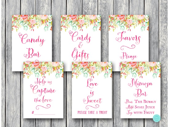 pretty-pink-bridal-shower-decoration-signs-5