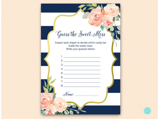 tlc536-sweet-mess-guessing-card-navy-gold-baby-shower-game