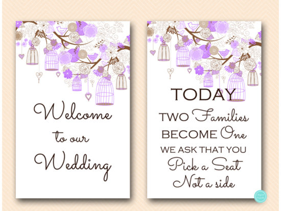 purple-wedding-love-bird-cage-bridal-shower-decoration-signs