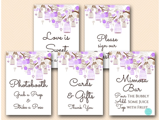 purple-wedding-love-bird-cage-bridal-shower-decoration-signs-mimosa5