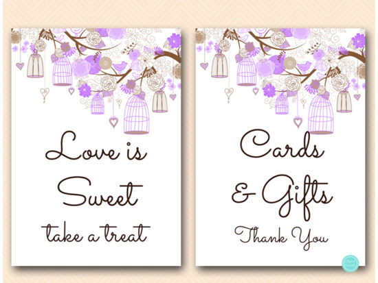 purple-wedding-love-bird-cage-wedding-decoration-signs