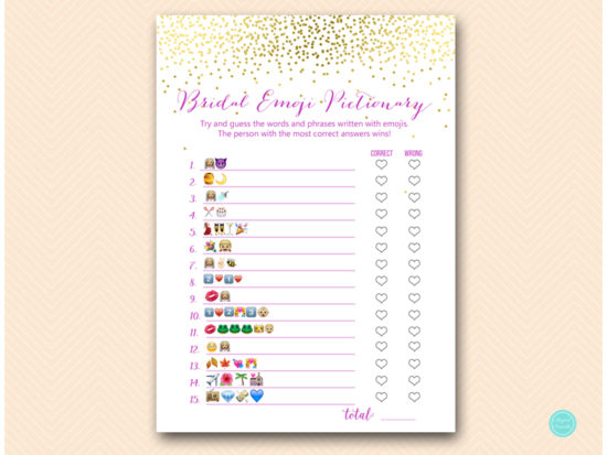 image regarding Emoji Bridal Shower Game Free Printable known as Red and Gold What did Groom Say Emoji Recreation