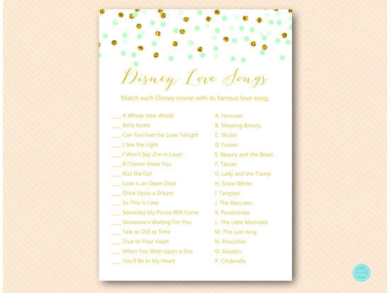 bs534-disney-love-songs-mint-gold-glitter-bridal-shower-game