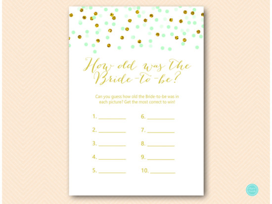 bs534-how-old-was-bride-to-be-mint-gold-glitter-bridal-shower-game