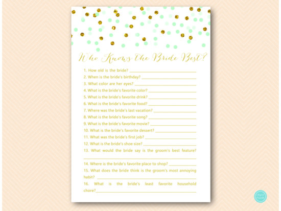 bs534-who-knows-bride-best-a-mint-gold-glitter-bridal-shower-game