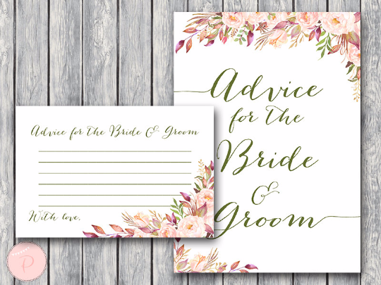 boho-floral-advice-for-bride-groom-card-and-sign