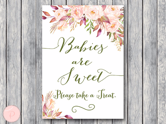 boho-floral-babies-are-sweet-treat-sign