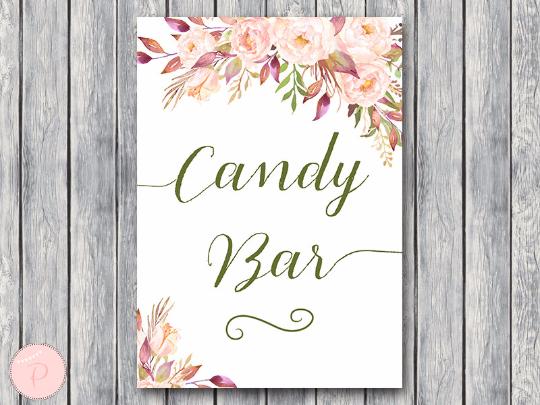 boho-floral-candy-bar-sign-instant-download