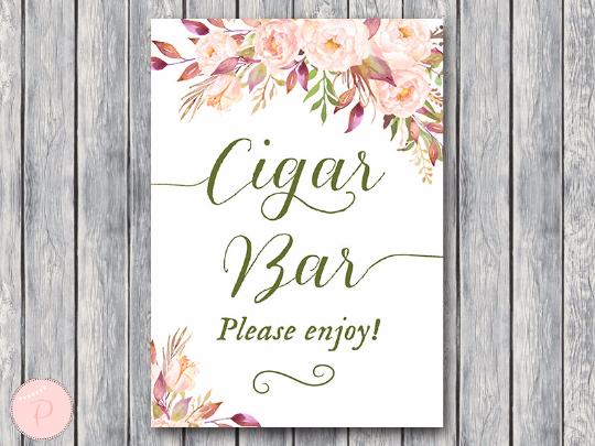 boho-floral-cigar-bar-sign-instant-download