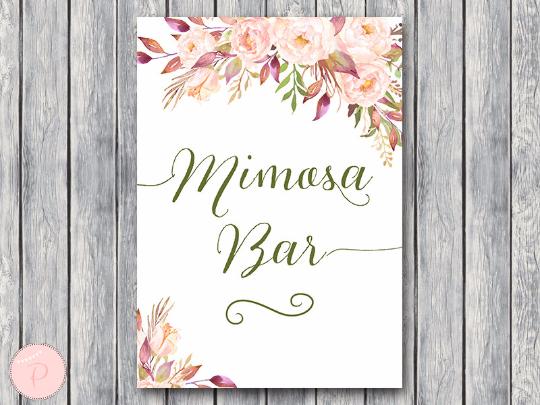 boho-floral-mimosa-bar