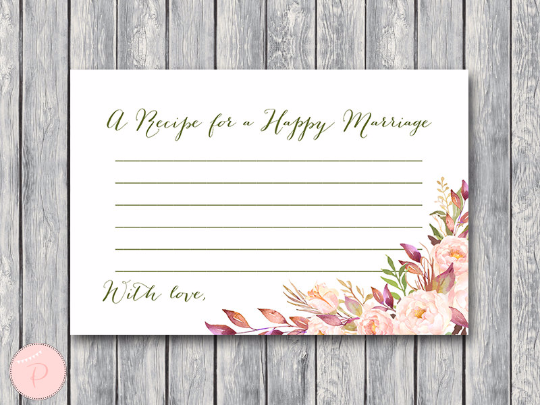 boho-floral-recipe-for-a-happy-marriage-printable-card