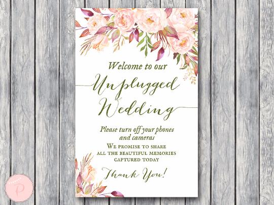 boho-floral-unplugged-wedding-sign