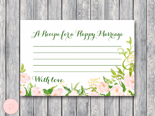 garden-a-recipe-for-a-happy-marriage-printable-card