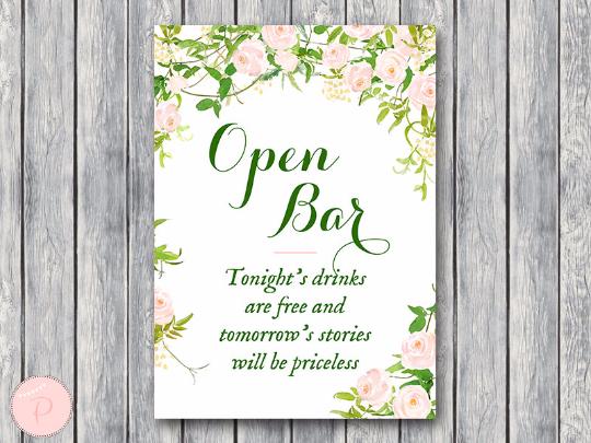 garden-open-bar-sign-wedding-open-bar-sign