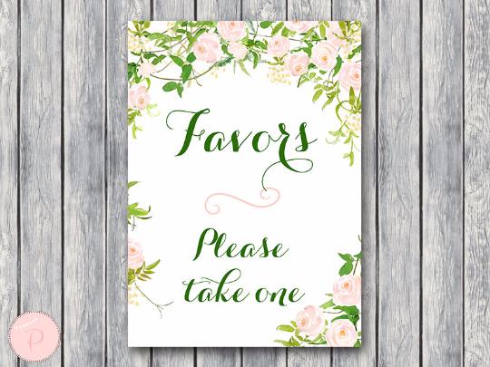green-favors-sign-wedding-favor-sign