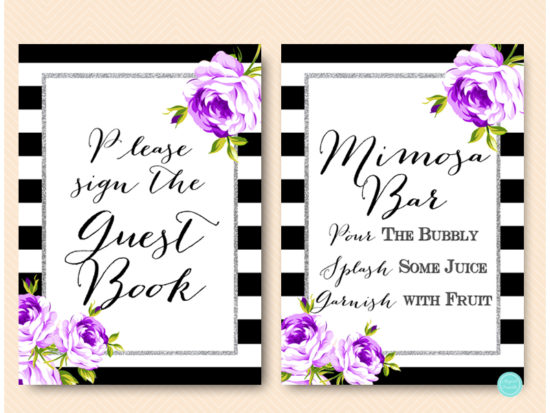 purple-silver-bridal-shower-signs-purple-floral-2