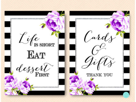 purple-silver-bridal-shower-signs-purple-floral-3