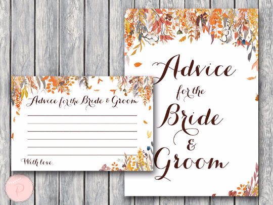 autumn-fall-advice-for-bride-groom-card-and-sign