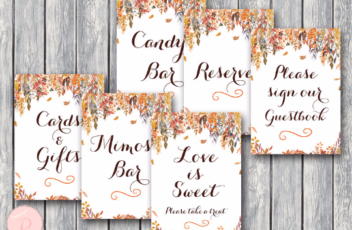 autumn-fall-bridal-shower-table-signs-package