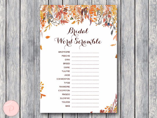 autumn-fall-bridal-word-scramble-bridal-shower-game