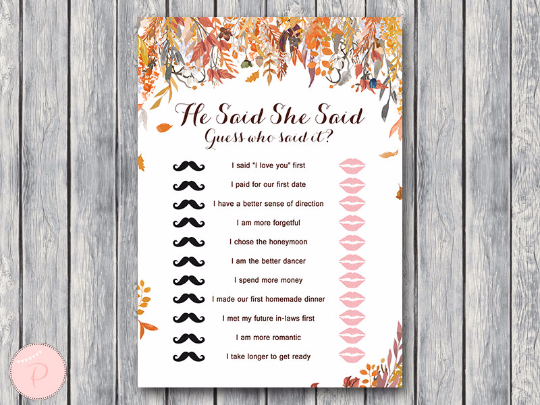 autumn-fall-he-said-she-said-bridal-shower-game