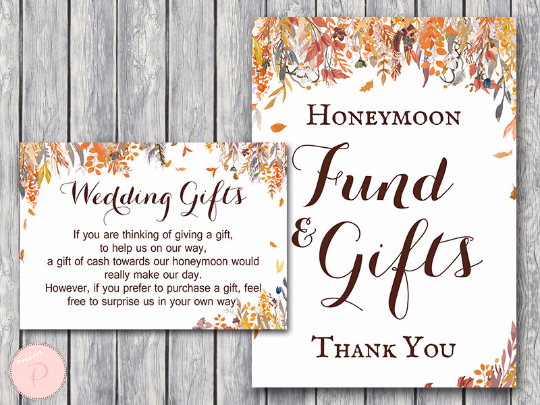 autumn-fall-honeymoon-fund-card-and-sign-wedding-gift-card