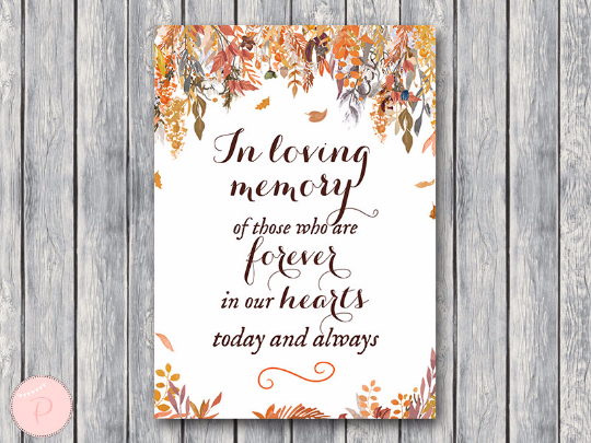 autumn-fall-in-loving-memory-wedding-sign