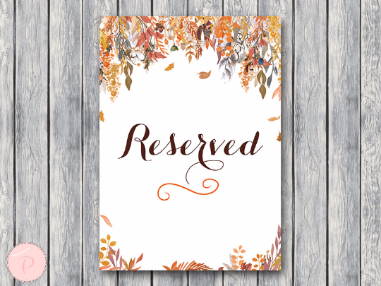 autumn-fall-reserved-sign-wedding-reserved-seating-sign