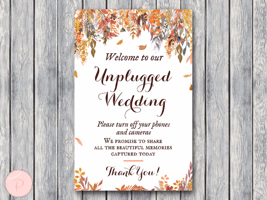 autumn-fall-unplugged-wedding-sign