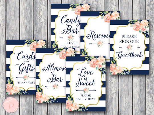 boho-navy-gold-bridal-shower-table-signs-package-nvy