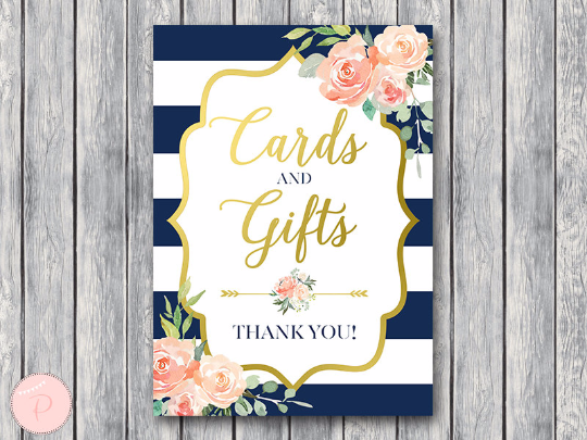 boho-navy-gold-cards-and-gifts-sign-gld