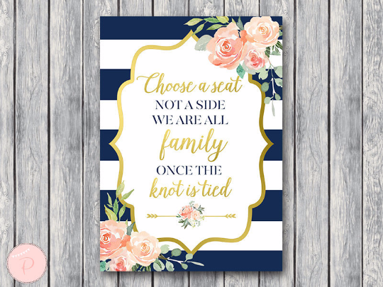 boho-navy-gold-choose-a-seat-not-a-side-sign-gld
