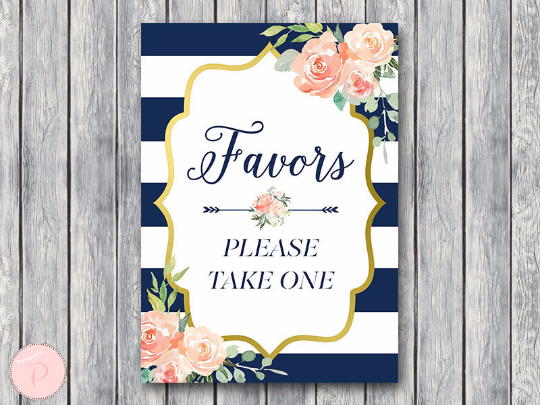boho-navy-gold-favors-sign-nvy