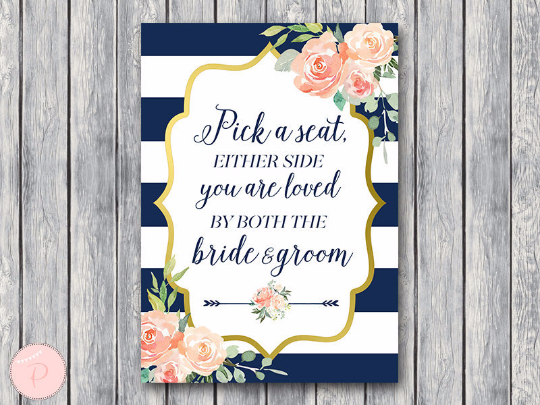 boho-navy-gold-pick-a-seat-not-a-side-sign-nvy