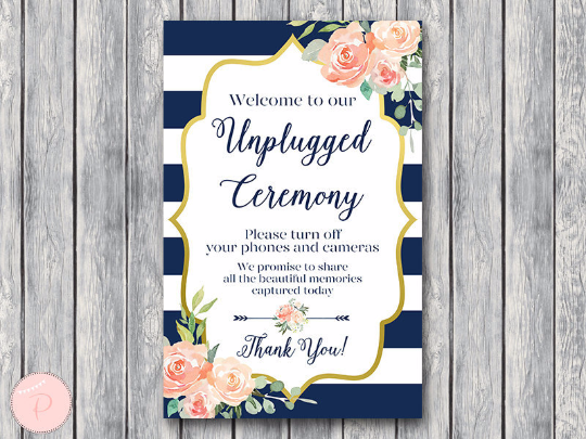 boho-navy-gold-unplugged-ceremony-sign-nvy