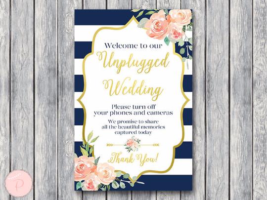 boho-navy-gold-unplugged-wedding-sign-gld