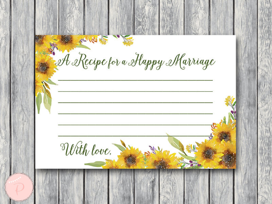 sunflower-summer-a-recipe-for-a-happy-marriage-printable-card