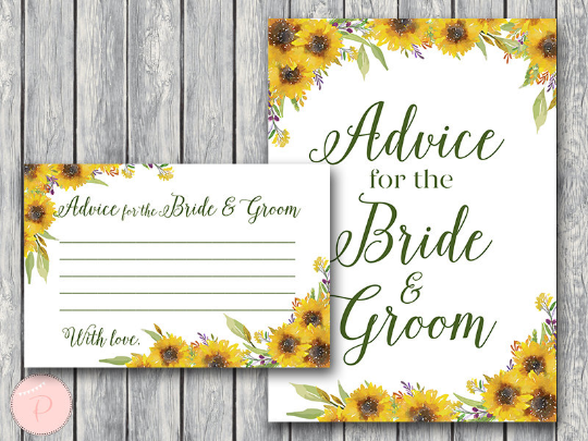 sunflower-summer-advice-for-the-bride-and-groom-card-sign