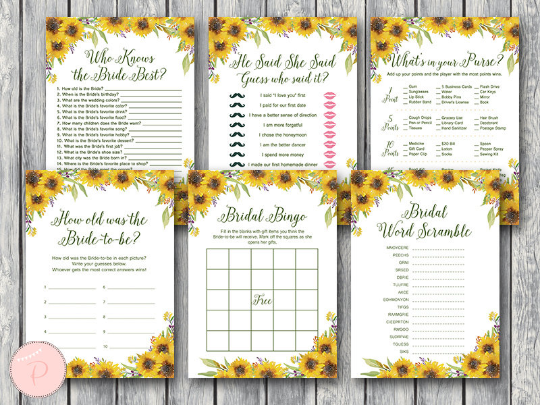 sunflower-summer-bridal-shower-games-package