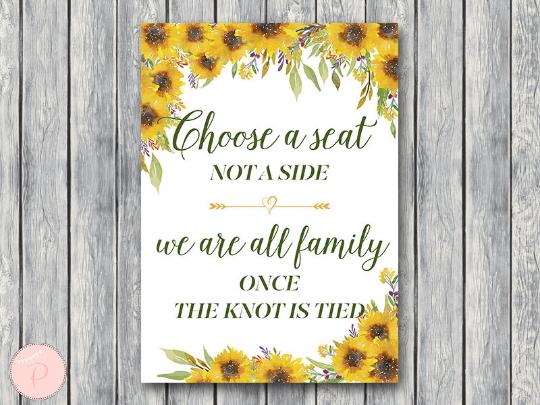 sunflower-summer-choose-a-seat-not-a-side-sign