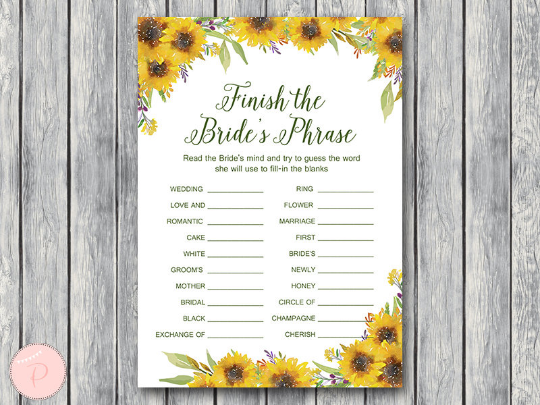 sunflower-summer-finish-the-brides-phrase-game-complete-the-phrase