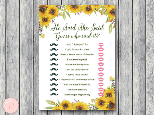 sunflower-summer-he-said-she-said-bridal-shower-game