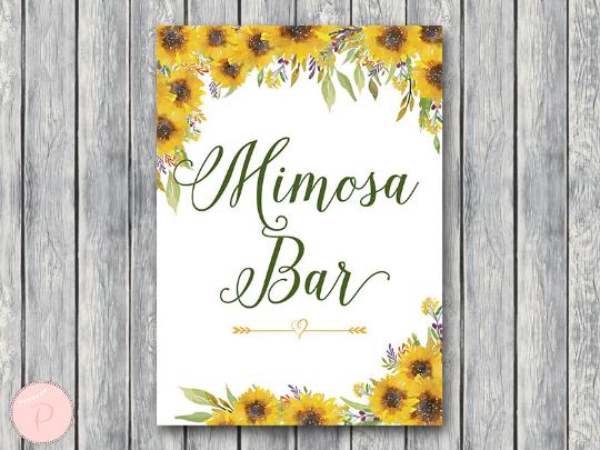 sunflower-summer-mimosa-bar-sign