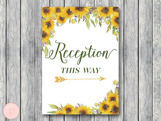 sunflower-summer-reception-sign-instant-download