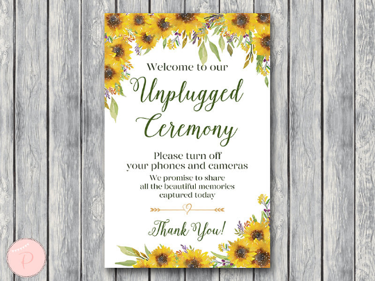 sunflower-summer-unplugged-ceremony-sign-no-phones-or-cameras