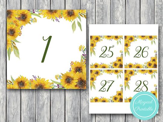 sunflower-summer-wedding-table-numbers-printable