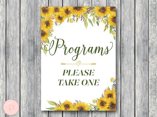 sunflower-summer-wedding-programs-sign-printable-instant-download