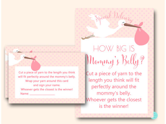 tlc458p-how-big-is-mommys-belly-pink-girl-stork-baby-shower-games