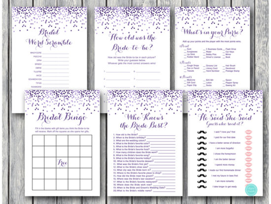 purple-glitter-bridal-shower-wedding-shower-games-package