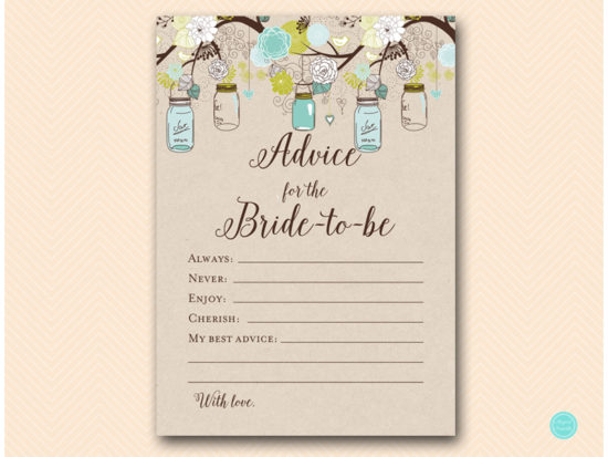 bs48-advice-for-bride-card-teal-mason-jars-bridal-shower-hen-party